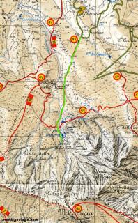 Cartina del sentiero Da Castelli al fondo della Salsa