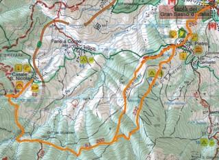 Cartina del sentiero Da Casale San Nicola a San Pietro